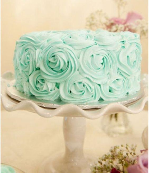 mint wedding cake ideas