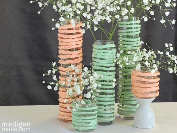 mint wedding centerpieces