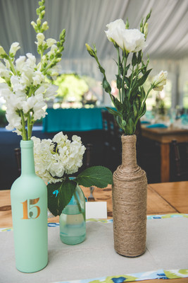 mint wedding decoration