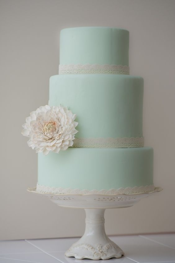 Pastel Mint Green Wedding Cakes WeddingInclude Wedding Ideas Inspiration