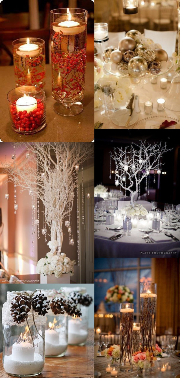 4 winter wedding centerpieces ideas