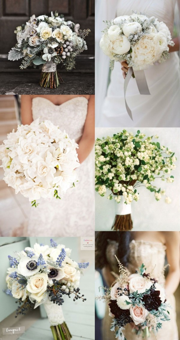 6 winter flower and bouquets