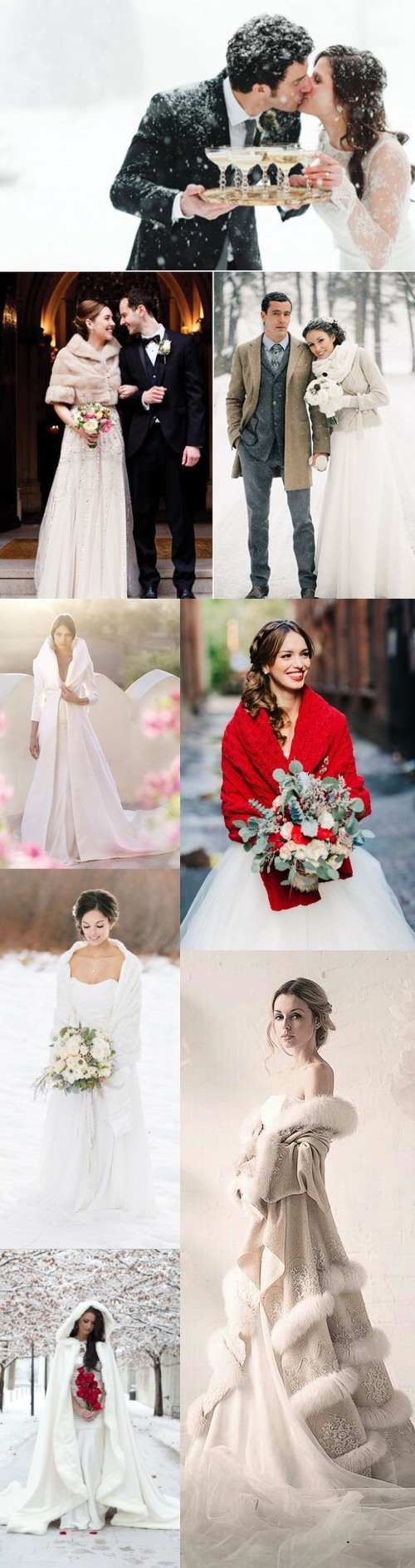 8 Stylish Winter wedding dress ideas