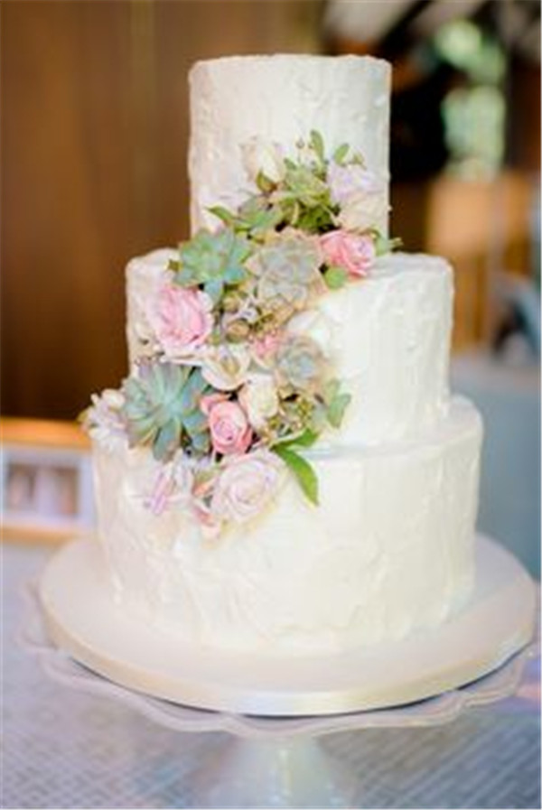 Amaaazing wedding cake with succulents