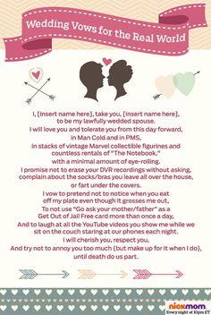 Funny Wedding Vows sample