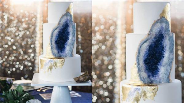 Geode Wedding Cakes