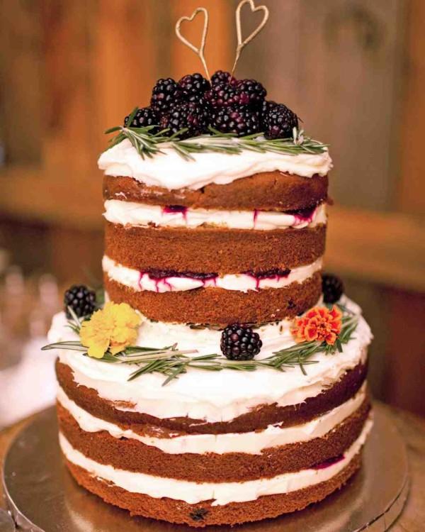 Pumpkin Blackberry Wedding Cake for Fall