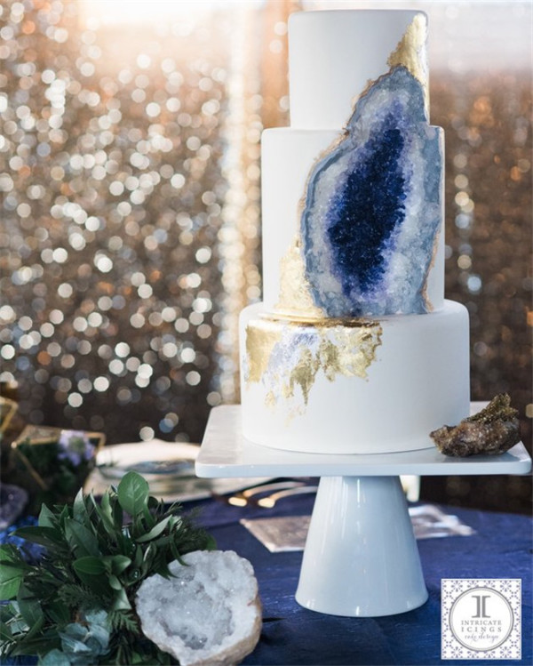 Stunning Geode Wedding Cake