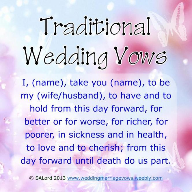 Traditional Wedding Vows Example Ideas | WeddingInclude | Wedding ...