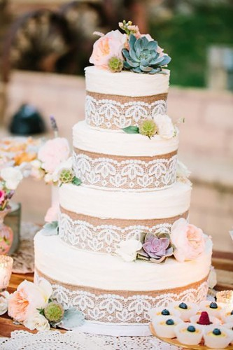 20+ Rustic Country Wedding Cakes for The Perfect Fall Wedding - photo#9