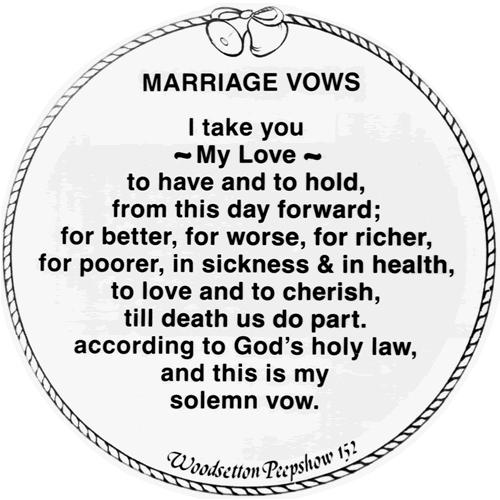 Marriage Vows Traditional Wedding Example Ideas