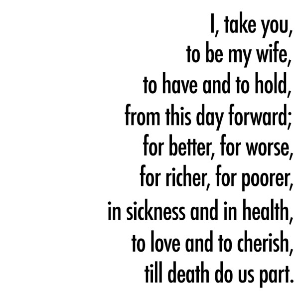 traditional vows for wedding