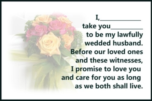 Traditional wedding vows examples weddinginclude wedding ideas traditional wedding vows examples junglespirit Gallery