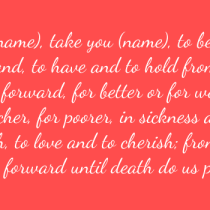 wedding vows traditional
