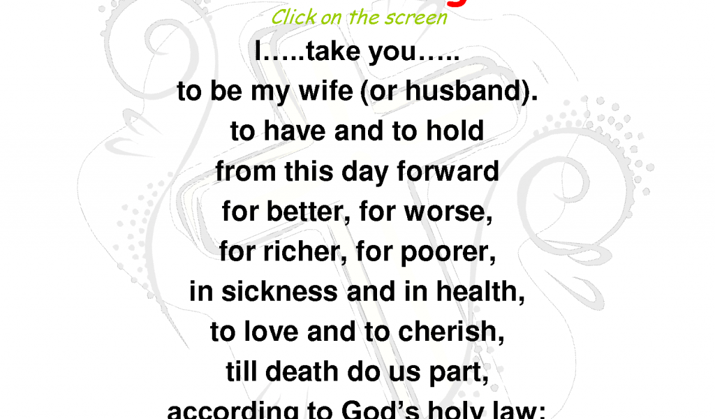 Wedding Vows Traditional Obey