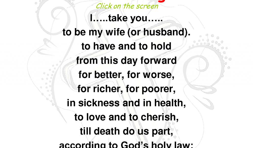 Old Wedding Vows