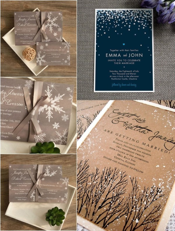 winter wedding invitaiton ideas