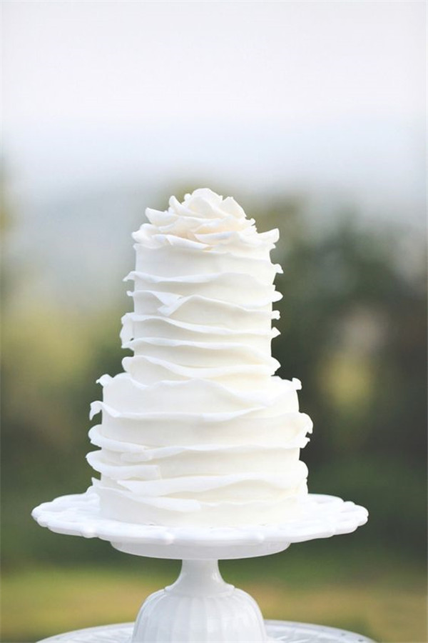 Simple White Cake Design : 40+ Elegant and Simple White Wedding Cakes Ideas