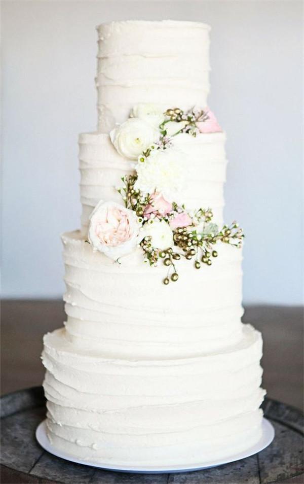 Buttercream White Wedding Cakes