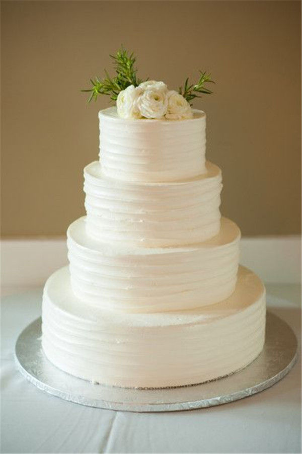 Plaim White Four Tier Cake