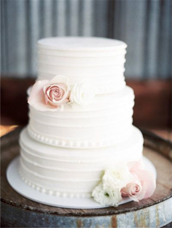 Wonderful #7 Classic White Wedding Cake