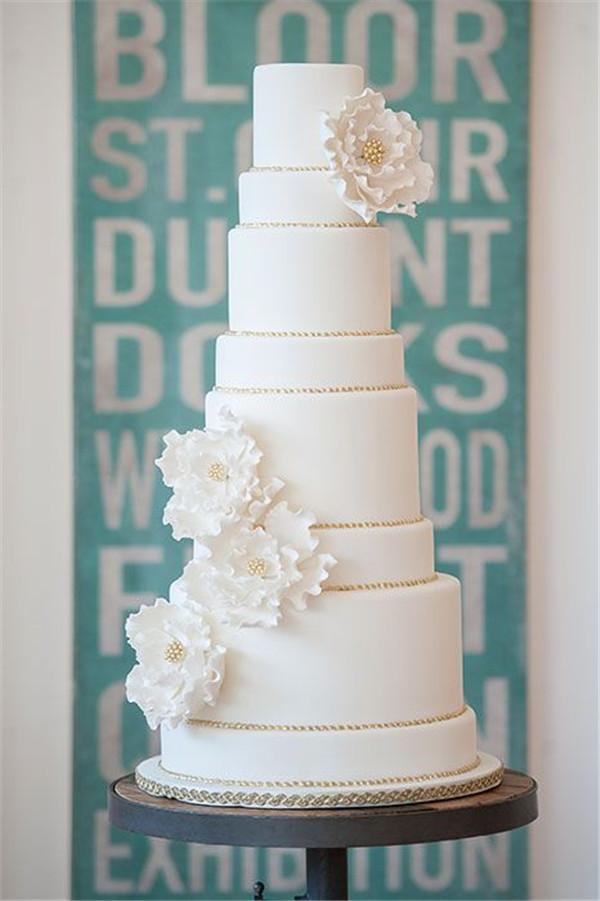 Pretty White Wedding Cakes