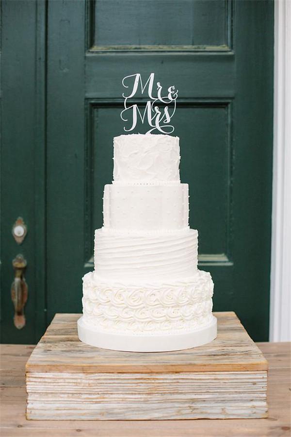 Textured White Wedding Cake