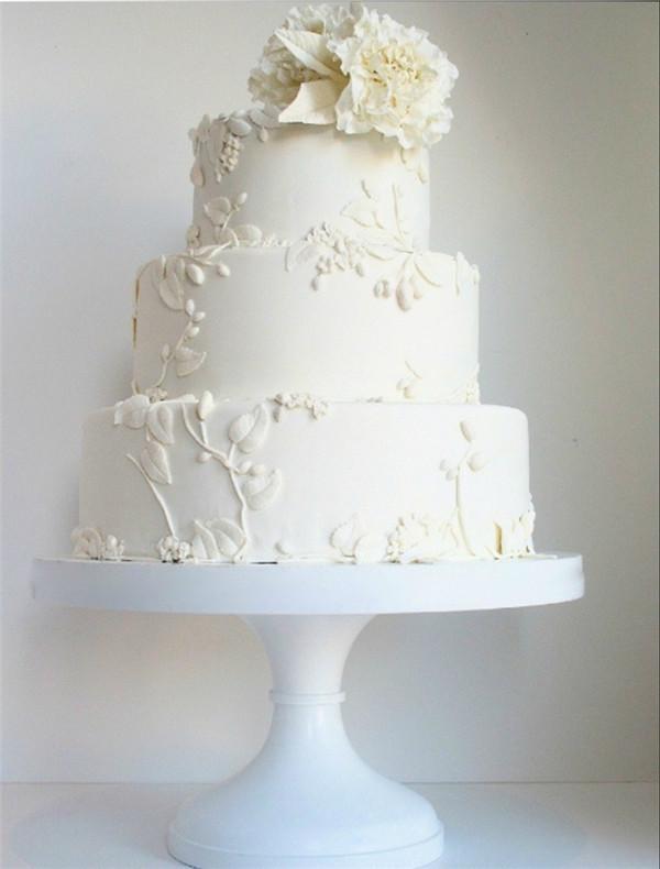 40 Elegant And Simple White Wedding Cakes Ideas