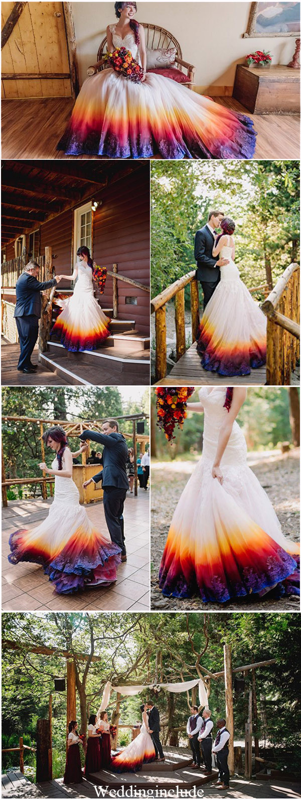 Colorful Dip Dye Wedding Dresses Ideas-The Latest Trend