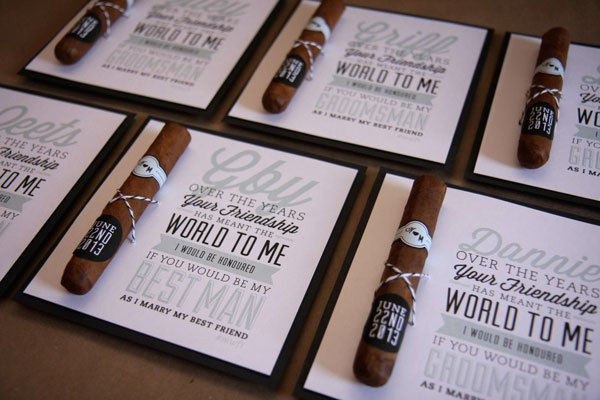 Invite your best man and groomsman