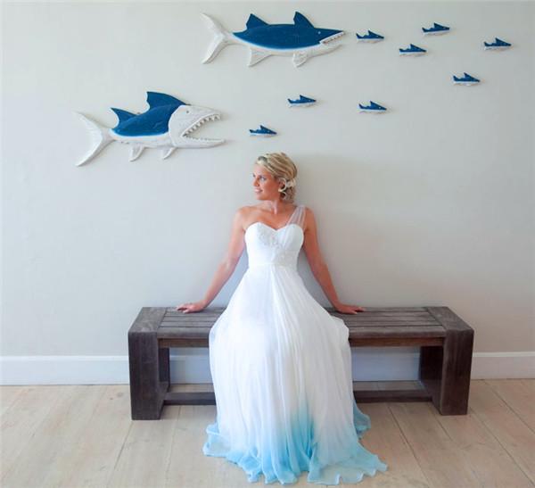 dip dye wedding dress trend 7