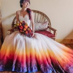 Colorful Dip Dye Wedding Dresses Ideas