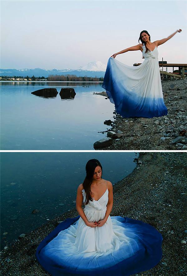 dip dye wedding dresses trend s