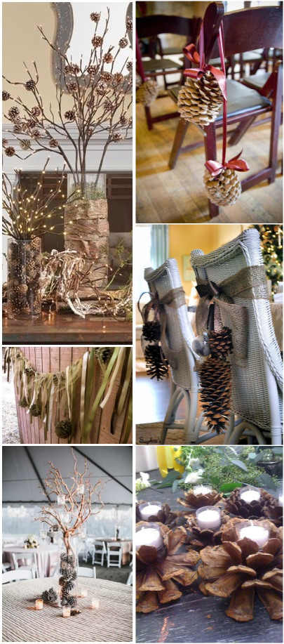 pinecones wedding decoration ideas