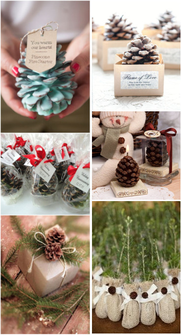 rustic pinecones wedding favors for your guests