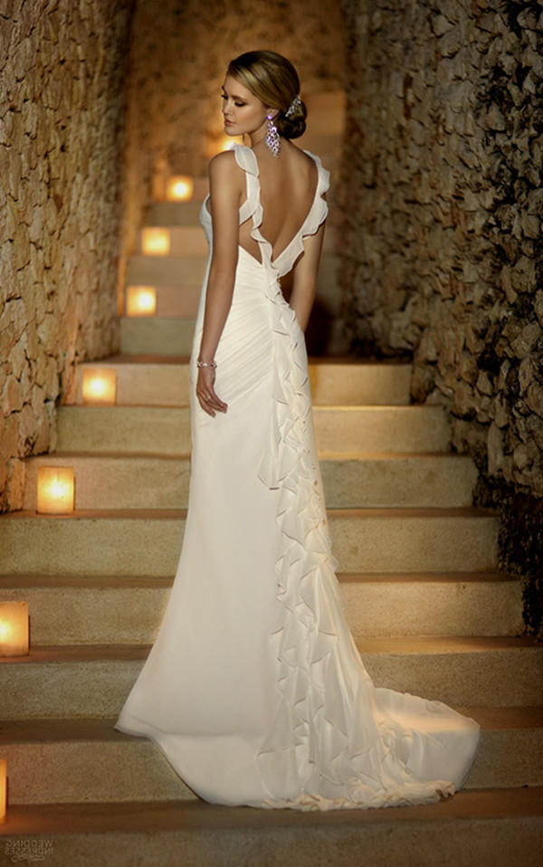 36 low back wedding dresses page 2 for Low backed wedding dresses
