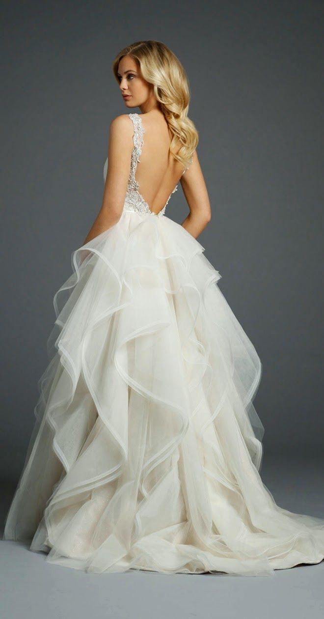 Backless Low-Back Wedding Dress