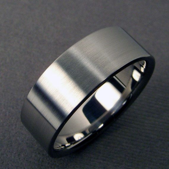 mens wedding bands - Titanium Mens Wedding Rings