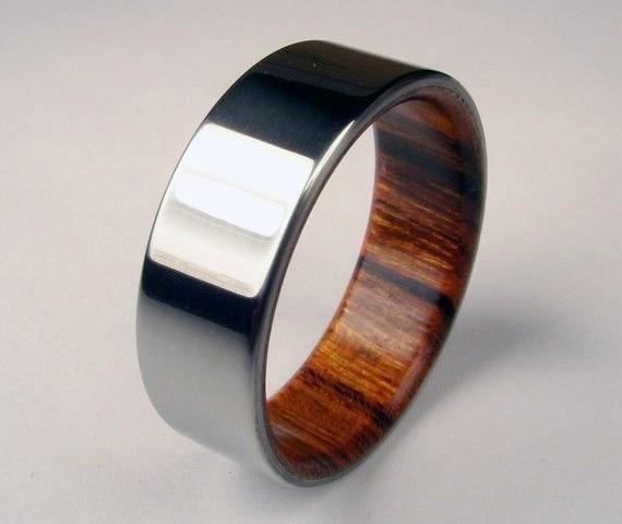 Rosewood and Titanium Ring