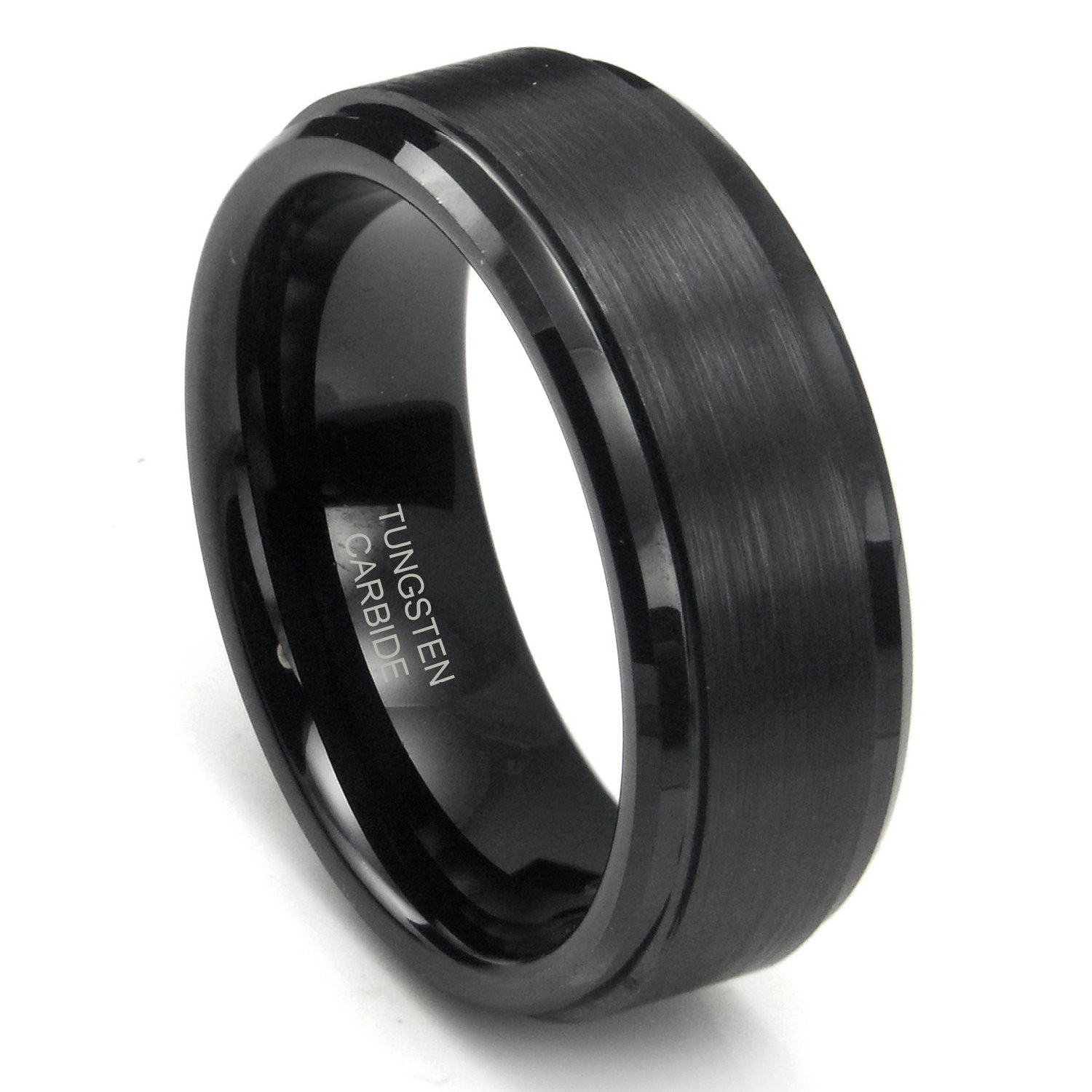 Black Mens Wedding Bands