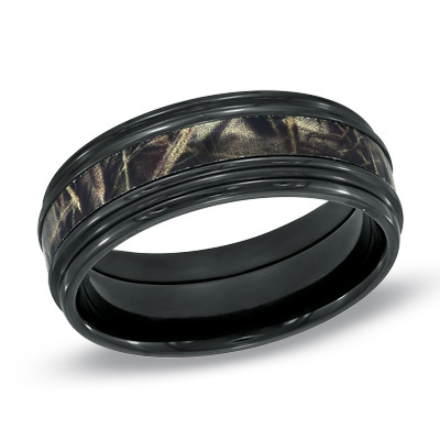 black mens wedding bands - Black Mens Wedding Rings