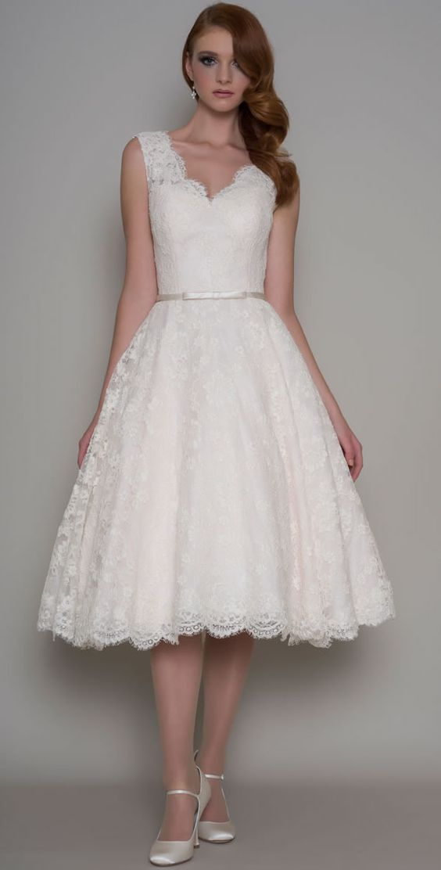 Short Tea Length Wedding Dress