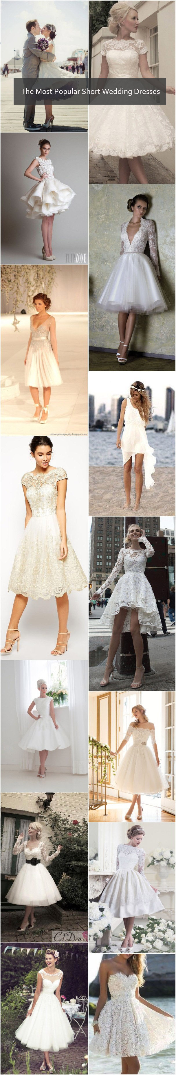 The Most Popular Short Wedding Dresses Ideas