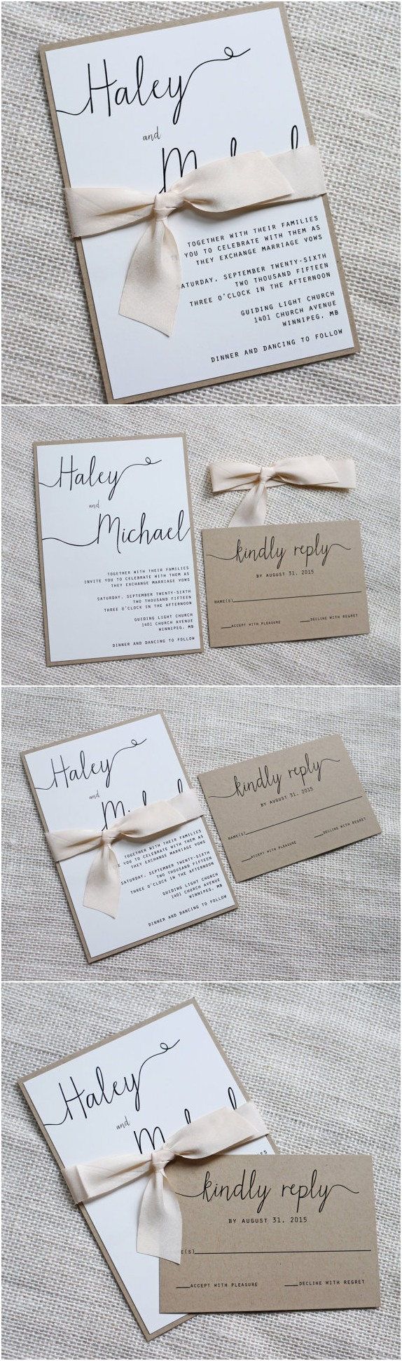 Simple wedding invitations inspiration
