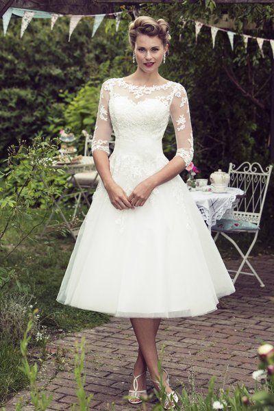 Tea Length Bridal and 50's Style Short Wedding Dresses