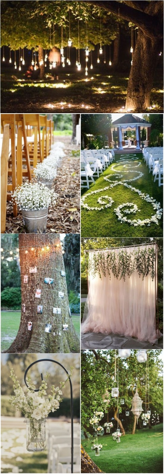 Outdoor weddings can be quite different because of the beauty of Mother Nature. That's why many couples choose to have an outdoor wedding to create a vivid memo