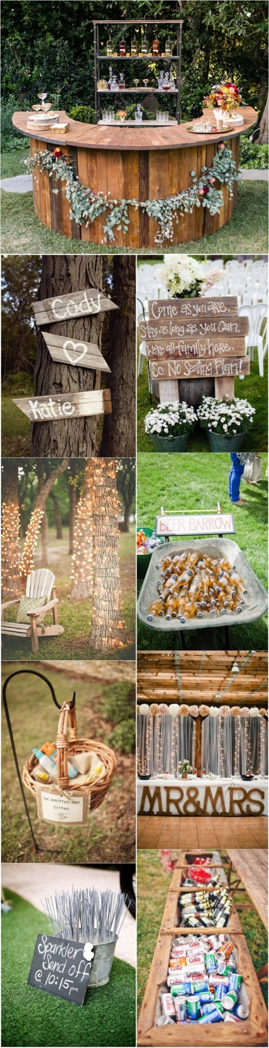 20 genius outdoor wedding ideas for Outdoor wedding reception ideas