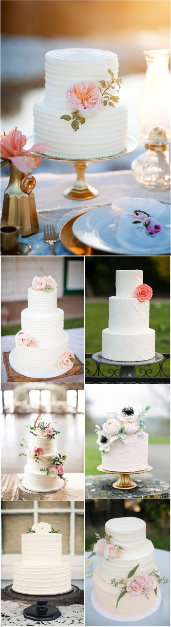 simple wedding cake with flowers 20 simple wedding idea inspirations 20106