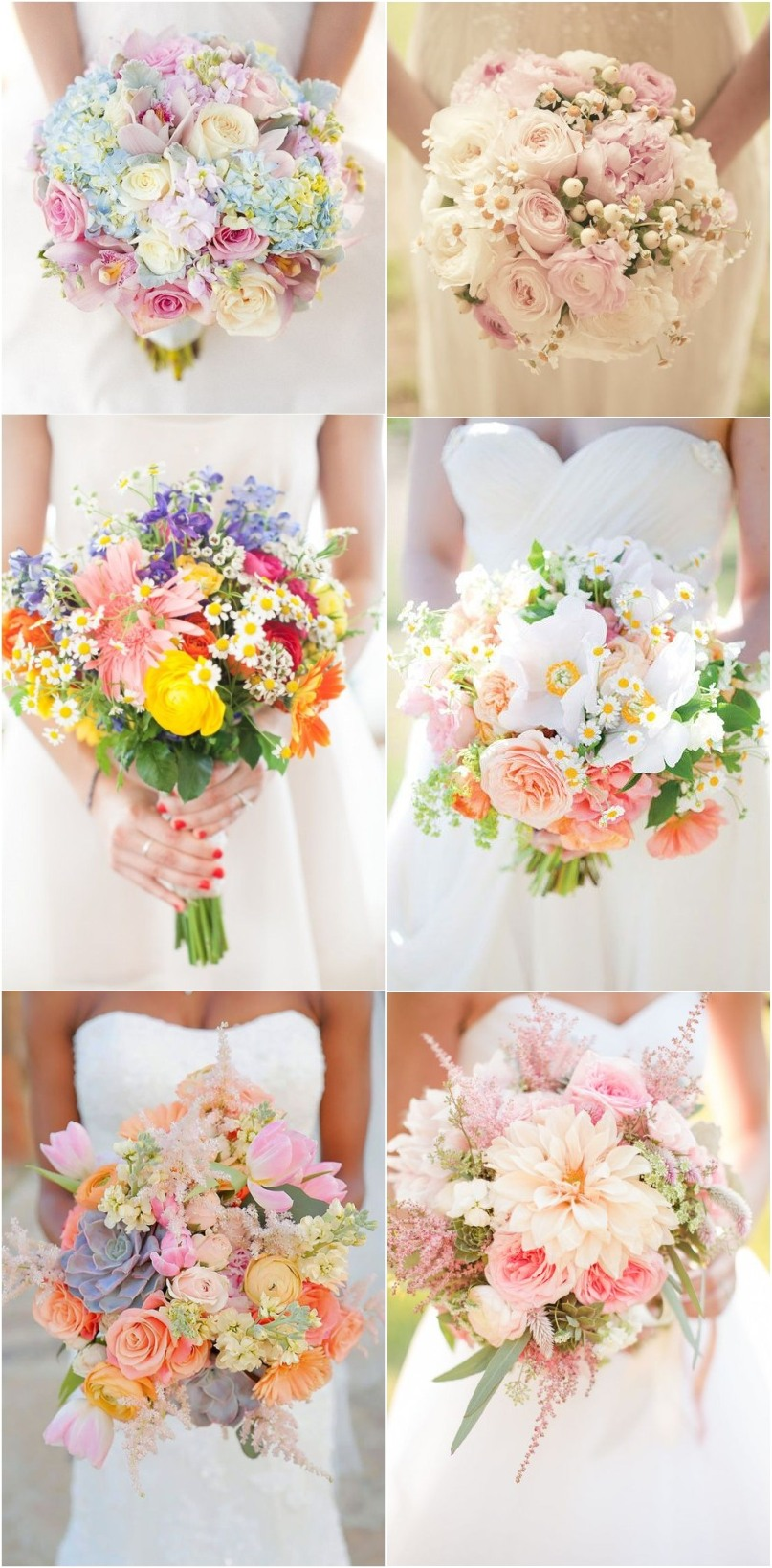 2017 spring wedding color and ideas for Wedding flowers ideas pictures