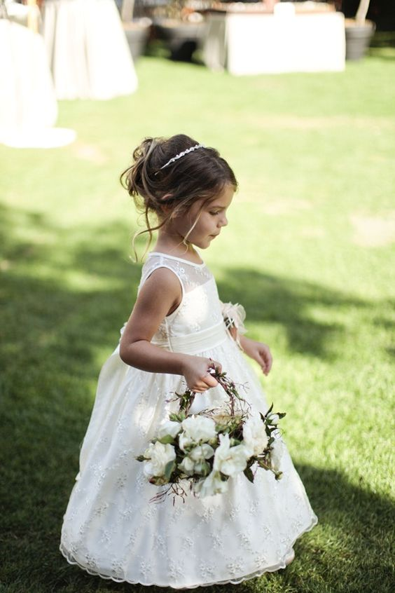 Elegant Flower Girl Basket and dresses